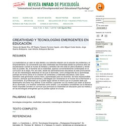 Revista INFAD de Psicología. International Journal of Developmental and Educational Psychology.