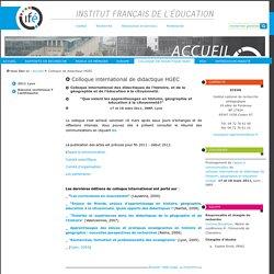 Colloque international de didactique HGEC