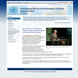 International Day for the Elimination of Racial Discrimination, 21 March