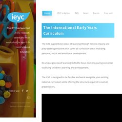 IEYC The International Early Years Curriculum