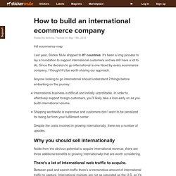 How to build an international ecommerce company - Sticker Mule Blog