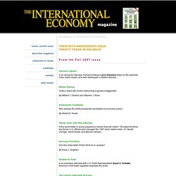 The International Economy-Fall 2007