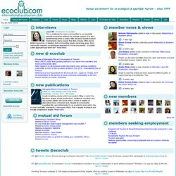 ECOCLUB.com - International Ecotourism Club: mutual aid network for ecological tourism