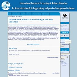 International Journal of E-Learning & Distance Education