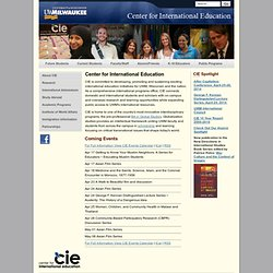 CIE - The Center for International Education - UW - Milwaukee