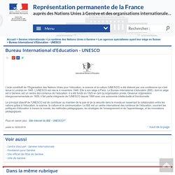 Bureau International d'Education - UNESCO - Mission de la France