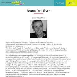 Bruno De Lièvre – Colloque international e-éducation