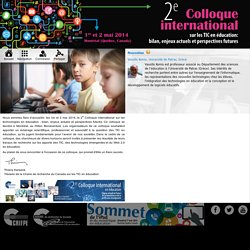 Colloque scientifique international sur les TIC Education