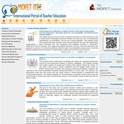 International Portal of Teacher Education - Home