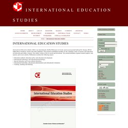 International Education Studies (Scopus Q3)