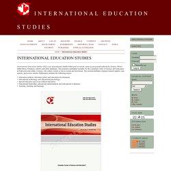 International Education Studies (Scopus Q3)