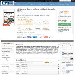 International Journal of Mobile and Blended Learning (IJMBL)