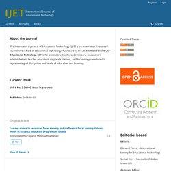 International Journal of Educational Technology