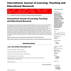 Learning, Teaching and Educational Research (Mensual / 2 meses)