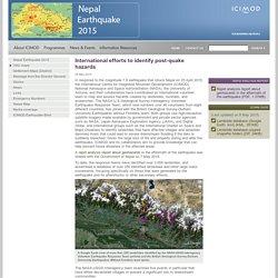 International efforts to identify post-quake hazards