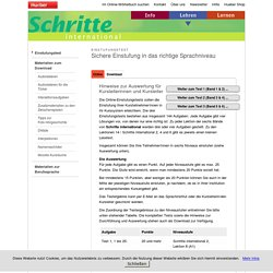Hueber / Schritte international - Online Einstufungstest mit Lösung