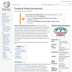 Technical Diving International