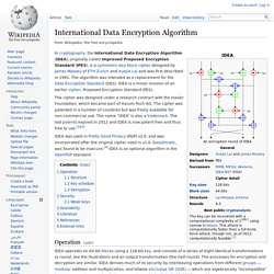 International Data Encryption Algorithm