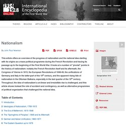 International Encyclopedia of the First World War (WW1)