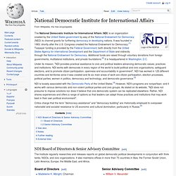National Democratic Institute for International Affairs