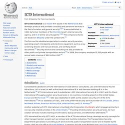ICTS International - Wikipedia, the free encyclopedia - Nightly
