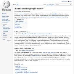 International copyright agreements