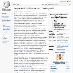 Department for International Development