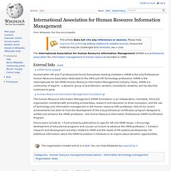 International Association for Human Resource Information Management