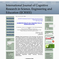 International Journal of Cognitive Research in Science, Engineering and Education (IJCRSEE)