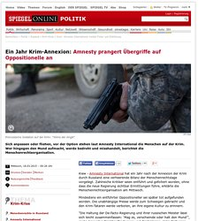 Krim: Amnesty International meldet Folter und Entführung