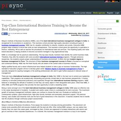 Top-Class International Business Training to Become the Best Entrepreneur