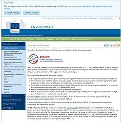 EU positions on Rio+20