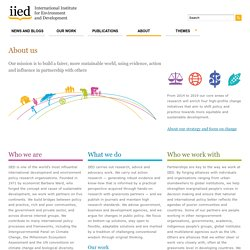 About IIED