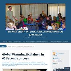 Stephen Leahy, International Environmental Journalist