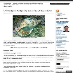 8.7 Million Species Run Spaceship Earth and Our Life Support System « Stephen Leahy, International Environmental Journalist