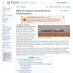 Effets du commerce international sur l'environnement