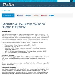 International Exhibitors Coming to Chicago Tradeshows