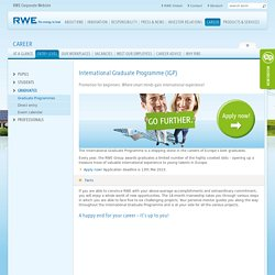 RWE International Graduate Programme