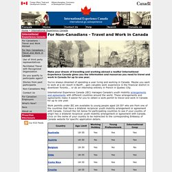 Temporary Work Visa For Travel and Work in Canada for Foreign Students and Youth