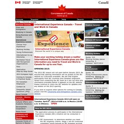 Temporary Work Visa For Work Holidays in Canada for Students and Youth
