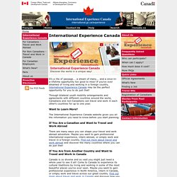 International Experience Canada Programs