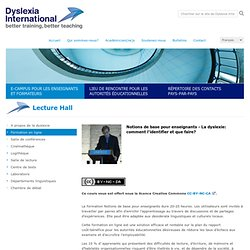 Dyslexia International - sharing expertise
