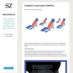 International - Facebook's secret rules of deletion