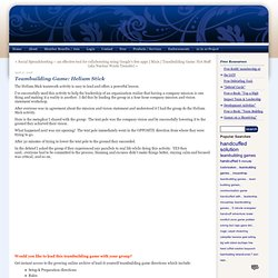 International Association of Teamwork Facilitators: Teambuilding Game: Helium Stick