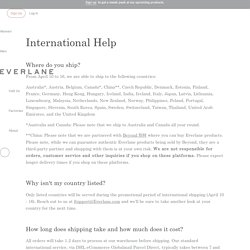 International FAQ