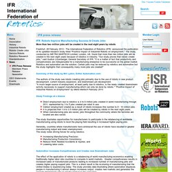Press Release - IFR International Federation of Robotics