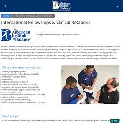 International Fellowships & Clinical Rotations
