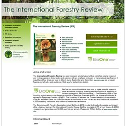 CFA - International Forestry Review