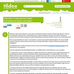 5 Benefits of International Freight Forwarders for Export and Import on Tildee