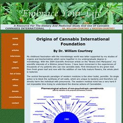 Origins of Cannabis International Foundation by Dr. William Courtney